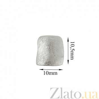 Серебряная серьга-пуссета Фанк в стиле минимализм 9026424
