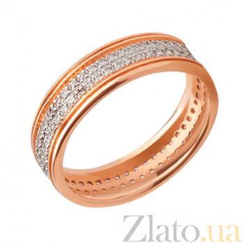 Золотое обручальное кольцо Сияние счастья VLT--ТТ166-1