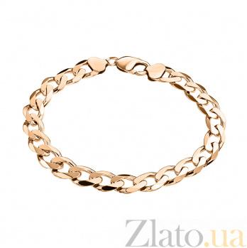 Золотой браслет Торн панцирного плетения с алмазной гранью и насечкой на стыке звеньев, 5мм 000100280