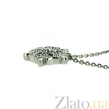 Серебряное колье с подвеской, с цирконием Льдинка ZMX--PCz-00205-Ag_K